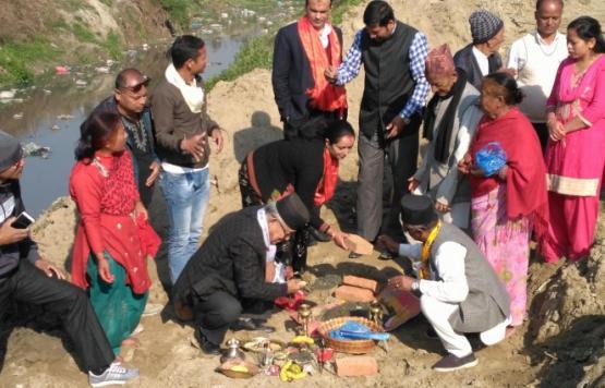 टुल्ती शान्तिनगर पुल निर्माण शिलान्यास कार्यक्रम ।